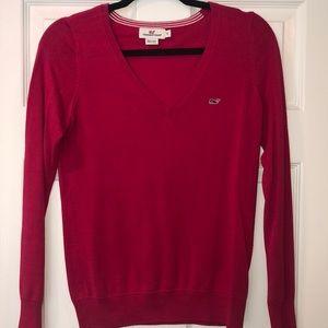 Vineyard Vines Pink Cotton V-neck Sweater